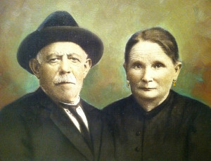 My great grandparents, Raffaele and Maria. They probably were more fun than they look.