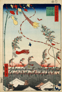 Hiroshige_The_city_flourishing, _Tanabata_festival,_1857
