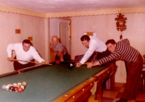 uncle john playing pool